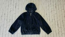 American Eagle Blue Soft Furry Faux Fur Coat NWT $89.95 Hood Small S CUTE