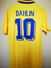Maglia Calcio Vintage Football Shirt Svezia USA 94 Dahlin #10 ex Roma Jersey