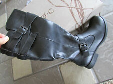 NEW BORN B.O.C. MAYS TALL RIDING BOOTS ZIP SIDE WOMENS 6 BLACK Z02709 HIGH BOOTS