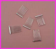 20pcs silver 6teeth plain Metal Hair Combs at lead free&nickle free,bridal comb