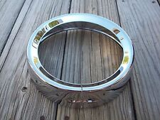 Chrome Frenched Style Headlight Trim Ring 83-2013 Harley Davidson Touring Models
