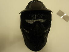 LARGE MESH AIRSOFT FULL FACE BB MASK PROTECT SAFETY MASK GOGGLES PAINTBALL BLAK