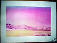 Jacques Monory : Lithographie Originale Signée Numerotée à la main