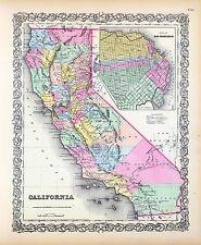 212 maps CALIFORNIA state PANORAMIC old genealogy lot HISTORY teaching atlas DVD