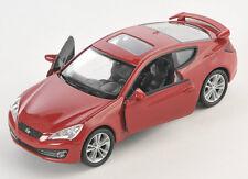 Blitz envío hyundai Genesis Coupe coloradorot Welly modelo auto 1:34 nuevo & OVP
