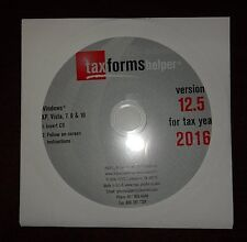 ADAMS HELPER CD SOFTWARE PROGRAM 2016 FOR W2 W-2 1099-MISC TAX FORMS LASER IRS