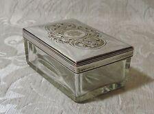 Georgian Old Sheffield Plate & Cut Glass Soap Holder Box c1830 Scatola Sheffield
