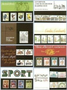 GB 1980 year set of 8 Presentation Pack VGC stamps Free postage!!