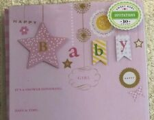 Sweet Baby Girl Shower invitations by Gartner Studios 20 count Nip Pink Gingham