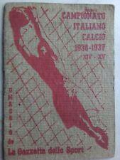 Calendario Campionato Calcio 1936/1937 Gazzetta dello Sport
