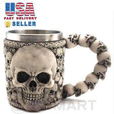 Skeleton Skull 3D Skeleton Tankard Mug Cup Coffee Beer Pirate Gothic Halloween D