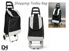 Shopping Trolley Cart Bag with Wheels Foldable Cart Luggage Basket BLACK
