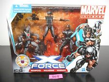 MIBS!! MARVEL UNIVERSE X FORCE ~ DEADPOOL  ~ WOLVERINE  ~ WARPATH  ~ 3 PACK 34-8
