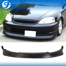CS Style Front Bumper Lip Spoiler Wing Pu Fit Honda Civic Ek 2 3 4 Dr 99-00