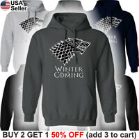 Game of Thrones Stark Hooded Sweatshirt Winter is Coming Sweater Shirt Hoodie