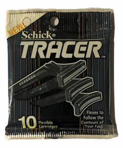 Schick Tracer 10 Refill Shaver Razor Blades Cartridges DiscontinuedNew 1990
