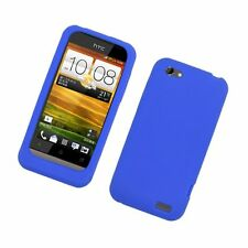 Silicone Skin Case for HTC One V - Blue