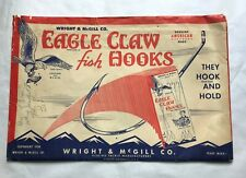 EAGLE CLAW HOOKS ADVERTISING ENVELOPE - VINTAGE ORIGINAL - GENUINE - VERY GOOD