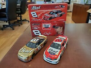 Lot of 2 Dale Earnhardt Jr #8 Bud Gold/ Born on Date 1:32 Diecast Action MIB