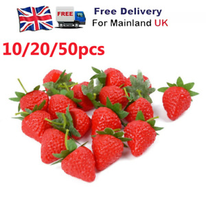 Artificial Strawberry Fake Fruit Display Kitchen Home Food Table Decorations UK