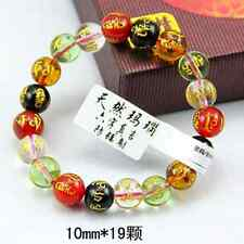 10mm Tibet Five-elements Synthetic crystal Bead carve om mani padme hum Bracelet