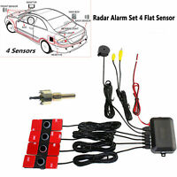 Car Video Parking Sensor Reverse Backup Radar Alarm System+16MM Flat Sensors