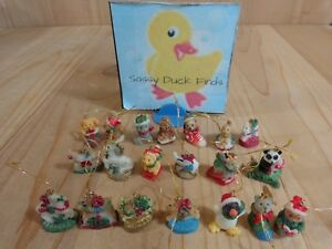Miniature Christmas Ornaments Lot of 20 Penguin Panda Horse Animals