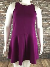 Everyly Womans Purple Dress Size Large Drop Waist Sleeveless Pleat A line