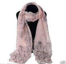 Fashion Women Long Soft Wrap Lady Shawl Chiffon Silk Scarf Scarves Pink