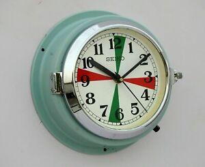Vintage Seiko Maritime Slave Clock Navigation Ship Quartz Made in Japan Openable
