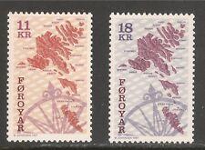 Faroe Islands #319-320 (A102) VF MNH - 1997 11k to 18k Sea Beds Of The Faroes