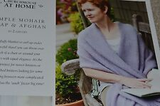 Churchmouse Knitting Pattern Simple Mohair Wrap & Afghan