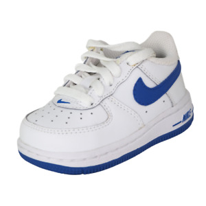 Nike Air Force One TD 314194 146 Toddler Shoes White Sneakers Vintage Leather DS