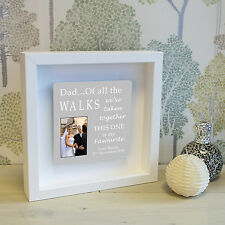 Personalised Photo & Message Shadow Frame Father of the Bride Wedding Gift