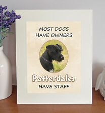 "Patterdale Terriers 10""x8"" Free Standing ""Patterdales Have Staff"" Picture Mount"
