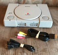 Official Sony PlayStation 1 PS1 Console & Wires! ~ Works Great! ~ Fast Shipping!