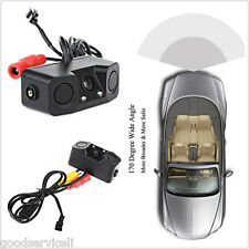 Car 2 Parking Reversing Radar Sensors Rear View Backup 170° Camera Night Vision