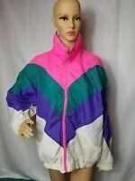 Rare Vintage Color Block American Idea Ski Jacket Windbreaker 80s 1980s VTG