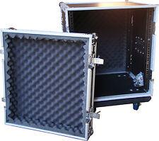 """Speed Case 12RU 19"""" amplifier rack case flightcase on wheels NEW"""