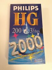 BNIP PHILIPS HG 200 3 1/2 HOURS LIMITED EDITION BLANK VHS VIDEO TAPE