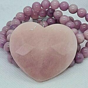 Lola Rose Three Strand Rose Pink Heart Quartzite Expandable Bracelet