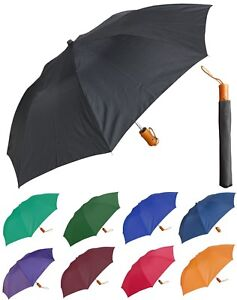 """42"""" Arc Collapsible Auto-Open Deluxe Solid Color Umbrella - RainStoppers"""