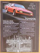 Toyota Supra  Magazine Print Ad 1982