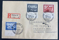 1942 Hamburg Germany Registered first day Cover To Parchim Semi Postal Stamps