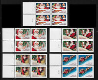 US #2581b-85a 1991(29c) Santa Booklet Pane Set of 5. Mint NH. Free Shipping