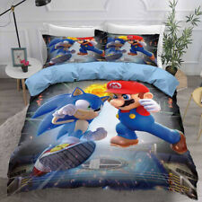 BRAND NEW SONIC THE HEDGEHOG Quilt Cover Set - Single 140x210cm