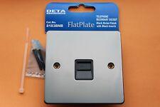 Box 6 x Deta 8183BNB Black Nickel FlatPlate Secondary Telephone Socket Black Ins