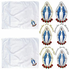 Baby Christening Baptism Swaddle BLANKET Gold Silver Embroidery Holy Virgin Mary