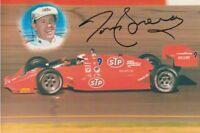 1989 Tom Sneva signed STP Buick Lola Indy Car postcard