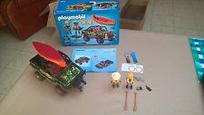 Playmobil 5558 Wild life,vie sauvage,expédition,safari,canoë,bateau,jeep